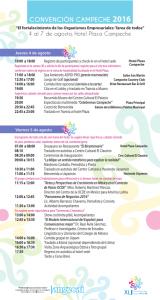 Programa Convención Campeche